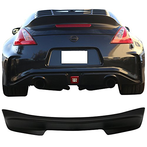 009-2018 Nissan 370Z | Ikon Style Unpainted Black PP Trunk Boot Lip Spoiler Wing Deck Lid By IKON MOTORSPORTS | 2010 2011 2012 2013 2014 2015 2016 2017 (Nismo Wing)