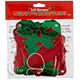 Beistle 1-Pack Foil Merry Christmas Streamer for Parties, 4-1/4-Inch by 5-Feet 6-Inch