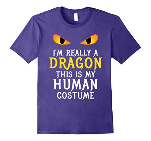 Halloween Diy Costumes Easy Really (Mens I'm Really A Dragon Halloween Costume Shirt Easy Funny Small)