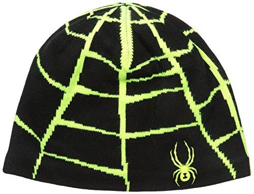 Spyder Web Hat, Black/Bryte Yellow, One (Spyder Mens Logo Cap)