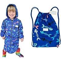 Schmik Swim Parka for Kids, Removable Arms, Fish Bone Print, Quality Swim Parka for Boys & Girls,Australian Owned…