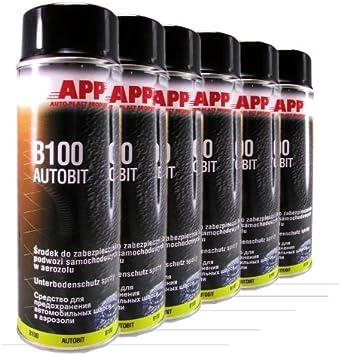App B 100 Autobit Spray 6 X 500 Ml Unterbodenschutz Schwarz 050600 6 Auto