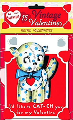 15 vintage valentines retro valentines 15 die cut cards in bag with decorated envelopes laughing elephant publishing 9781595833280 amazoncom books