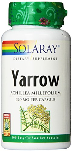 Solaray Yarrow 320mg Capsules, 100 Count