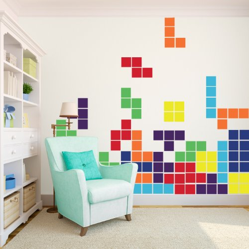 Tetris Game - Large - Vinyl Wall Art Decal for Homes, Offices, Kids Rooms, Nurseries, Schools, High Schools, Colleges, Universities, Events by Dana Decals (Image #1)