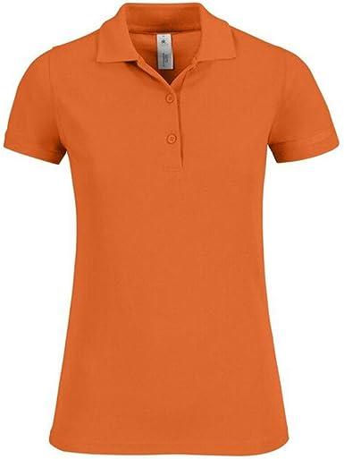 B&C Collection - Polo - para Mujer Amarillo Naranja: Amazon.es ...
