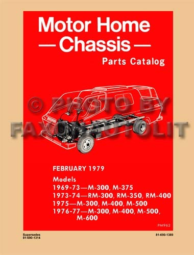 1969-1977 Dodge Motor Home Chassis Parts Catalog Reprint ()