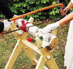 Ordentlich Hochzeits-Baumstamm sägen als Komplett Set - PORTOFREI - inkl  JN33