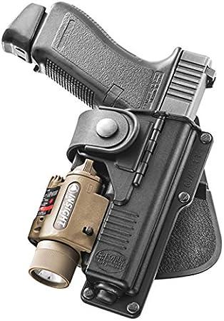 Funda Fobus táctica de camuflaje con bisagra para pistolas Glock19,23 / WaltherP99 con accesorio táctico