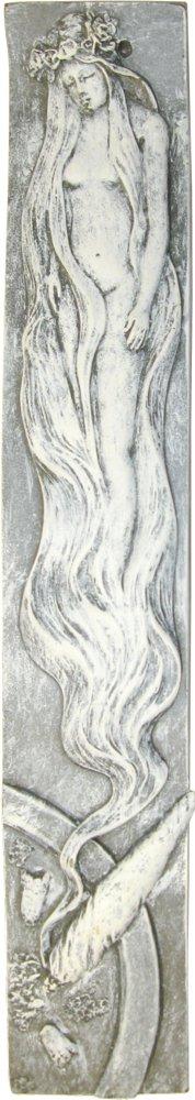 Beautiful and Naked Smoke Virgin Woman Spirit Marijuana Joint Pot Incense Burner Cool-Patches