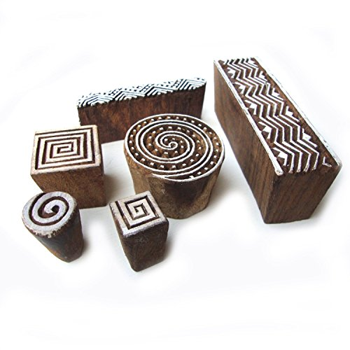 designer-spiral-and-geometric-pattern-wood-stamps-for-printing-set-of-6