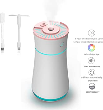 Humidificador, 300ml Ambientador Coche Ambientador Casa con Luz ...