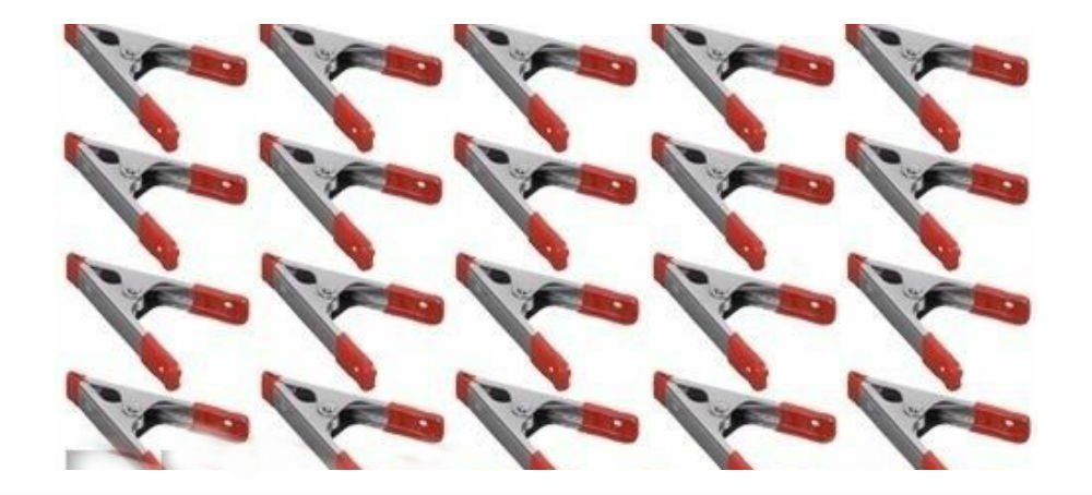 """40x 4/"""" inch Metal Spring Clamps w// Rubber Tips Tool 40 Pcs Lot Steel Red /& Black"""