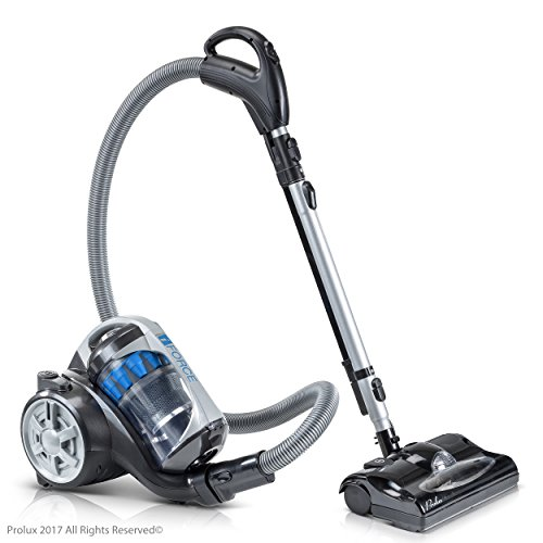 Prolux iFORCE Bagless Canister Vacuum Cleaner With 2 Stage Hepa Filtration & Power Nozzle