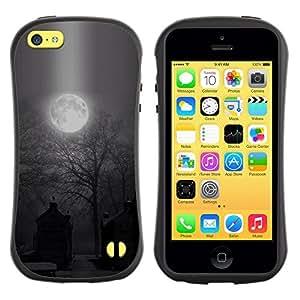 Paccase / Suave TPU GEL Caso Carcasa de Protección Funda para - Moon Spooky Graveyard Halloween - Apple Iphone 5C