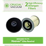 Filter Kit for Hoover Elite Rewind Vacuums; Includes HEPA & Primary Filters; Compare to Part Nos. 59157014, 59157055; Designed & Engineered by Crucial Vacuum