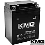 KMG® YTX14AHL-BS Battery For Arctic Cat 640 Tiger Shark 1997-1999 Sealed Maintenace Free 12V Battery High Performance SMF OEM Replacement Powersport Motorcycle ATV Snowmobile Watercraft