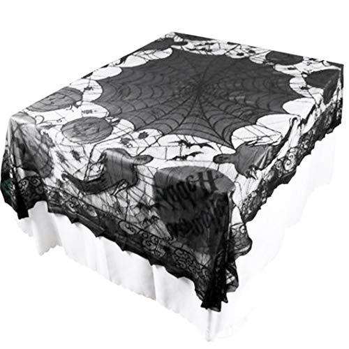 Creazy Ghost Pumpkin Webs Halloween Indoor Party Decor Tablecloth Table Decoration]()