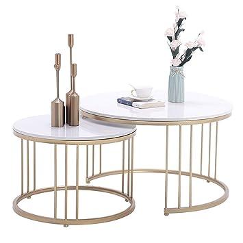 Ensemble de Table Basse de Salon Moderne, Support de Table en Fer ...
