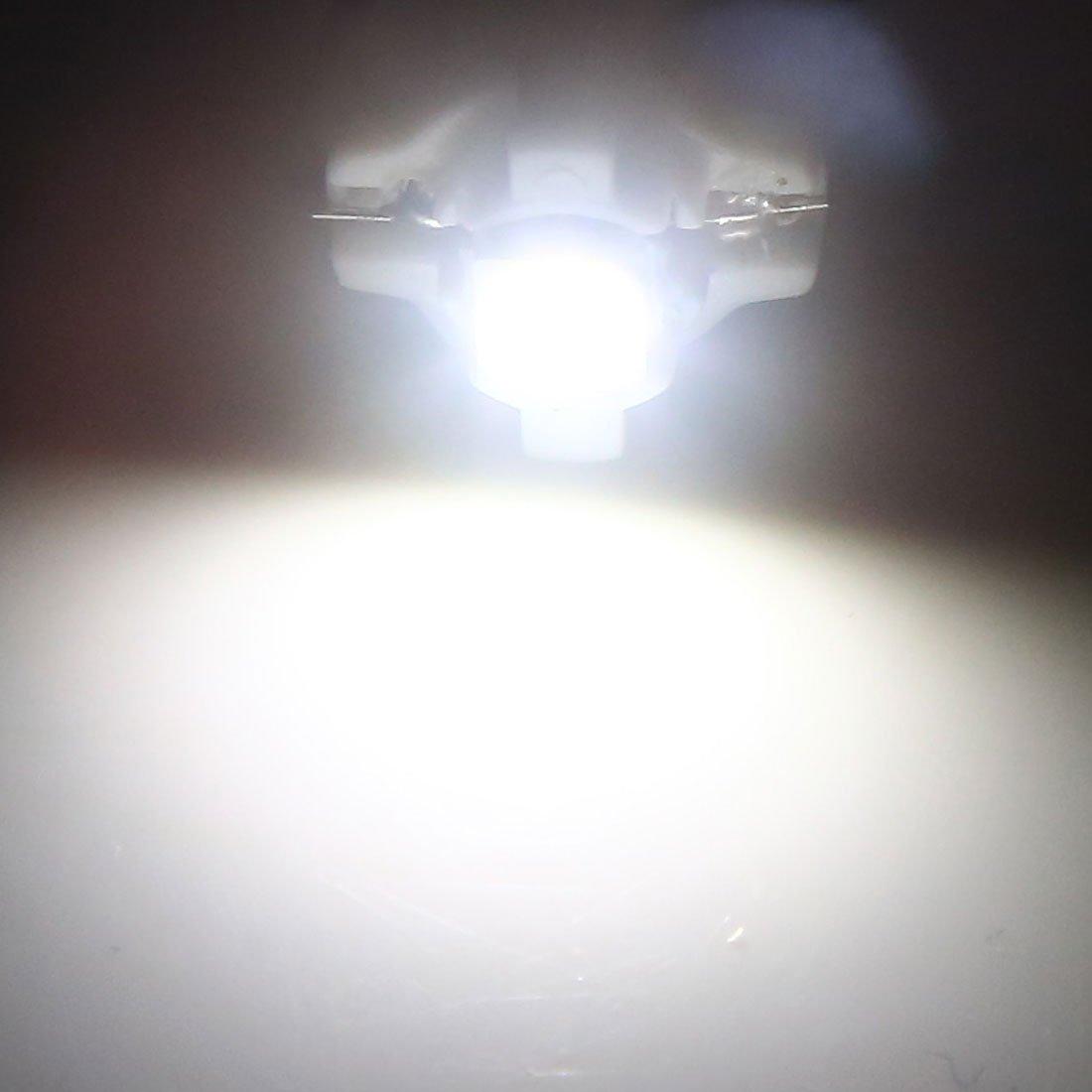 Amazon.com: eDealMax Interior del coche B8.3D LED Salpicadero Dash cuña de la luz Pilota del bulbo de la lámpara Blanca 17pcs: Automotive