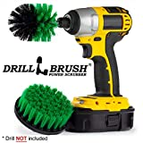 Kitchen Cleaning Supplies - Mini Corner Drill Brush and 4-inch Flat Scrub Brush Kit - Spin Brush - Grout Cleaner - Cast Iron Pots and Pans - Stove, Burners, Oven Rack, Sink, Counters, Flooring