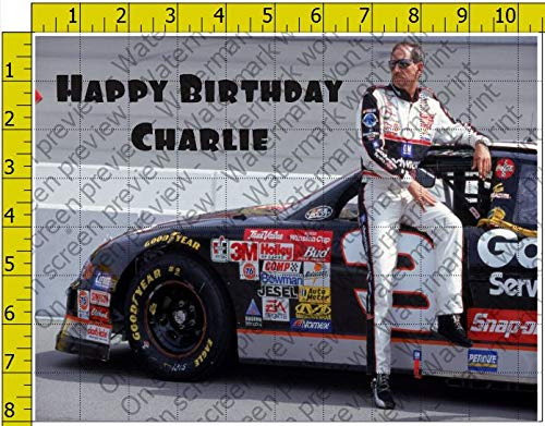 Dale Earnhardt Racing Personalized Birthday Edible Frosting Image 1/4 sheet Cake Topper