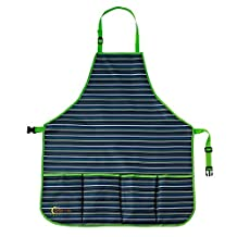Ogrow High Quality Kid's Garden Tool Apron with Adjustable Neck And Waist Belts, Blue Striped by OGrow
