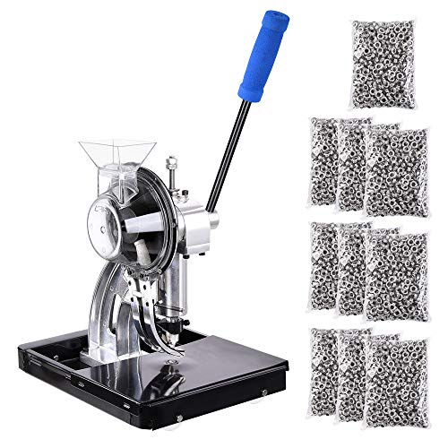 Yescom Semi-automatic Die Hand Press Grommet Machine 10,000Pcs #2 Grommets & Eyelet Feeding & Rolling Base Tool Kit