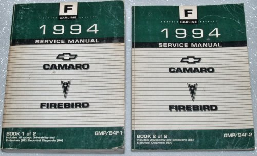 1994 Chevrolet Camaro, Pontiac Firebird Factory Service Manuals (F Platform, 2 Volume Set)