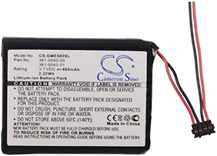 CS-GME500SL Batería 600mAh Compatible con [Garmin] 010-01626-02, 4RL58983, Edge 200, Edge 205, Edge 500, Edge 520, Edge 820, Edge Explore 820 sustituye 361-00043-00, 361-00043-01, 361-0043-00, 361-00: Amazon.es: Electrónica