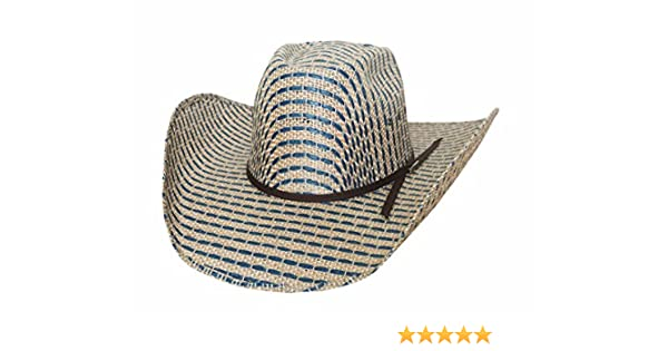 e16c37f3aa8b9 Amazon.com  Bullhide Tyler HARR Tough Draw - (50X) Straw Cowboy Hat (7  1 2)  Clothing