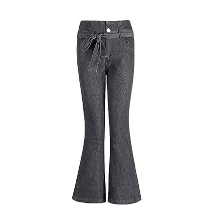 RXF Pantalones de Vaca de Cintura Alta, Corbata para Mujer con ...