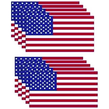 10 pack of new usa american flag vinyl decal army navy military country stickers car truck