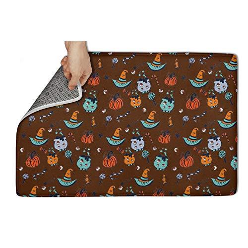 Gaaskelled Large Indoor/Outdoor Doormat,Happy-Halloween-Illustration Non Slip Duty Front Entrance Door Mat Rug,Easy Clean Door Mat (31