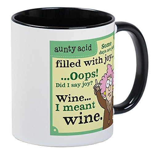 CafePress Aunty Acid: Filled With Wine Mug Unique Coffee Mug, Coffee Cup