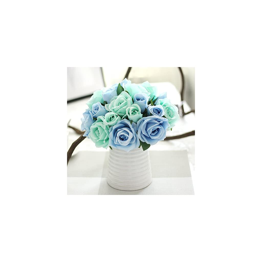 Houda-Artificial-Silk-Fake-Flowers-Rose-Floral-Decor-BouquetPack-of-2
