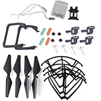 YouCute Spare Part Kit for U45 Raven U45W Blue Jay U42 U42W U42WH CW4 Blue Jay Raven Rc Quadcopter Drone Blade Gear Lading Gear Motor Frame Gear(Blcak Large)