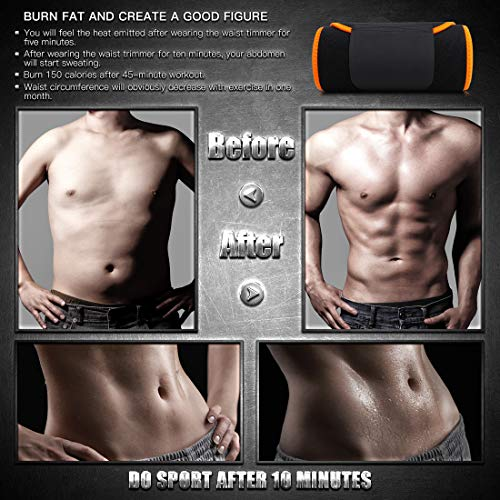 0334d4e57a3 IBAWLY Sweat Trimmer Waist Workout Belt Abdominal Trainer Stomach Fat  Burner Slimming Body Shaper Fast Lose