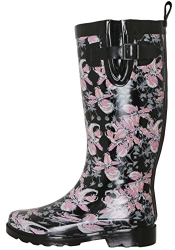 Black Capelli Lining Cozy New York Boots Ladies Rain Tall qx8paH