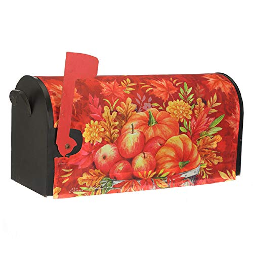 (Topadorn Fall Autumn Magnetic Mailbox Cover Makeover Post Box Décor Valentine, Standard Size, Pumpkin)