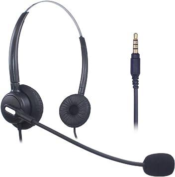 Xintronics Auriculares Teléfono Móvil Dual, Cancelación de Ruido Micrófono, Cascos 3,5 mm para iPhone Samsung Huawei Blackberry HTC ZTE LG Celulares y Smartphones(X203-35M1): Amazon.es: Electrónica