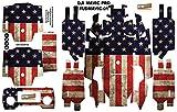 American USA Flag DJI Mavic Pro Skin Wrap Decal Sticker Battery Body Ultradecal