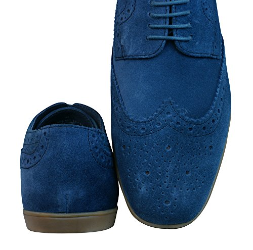 Base London Shore Suede Zapatos de cuero / Brogues Blue