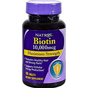 Natrol Biotin Maximum Strength Tablets, 10,000mcg , 100 Count (pack of 2) (packaging may vary)
