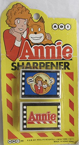 ADI Little ORPHAN ANNIE Package of 2 PENCIL SHARPENERS for sale  Delivered anywhere in USA