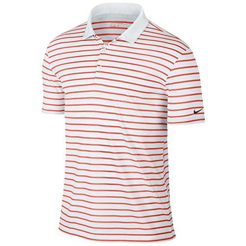 Nike Polo Icon Stripe Turf Orange/White/Black