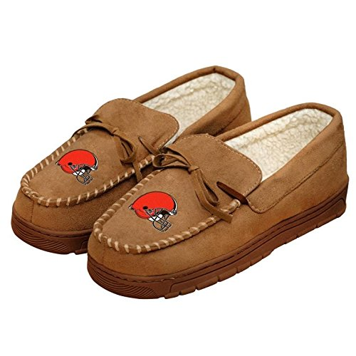 Football Mens Team Logo Moccasin Slippers Shoe - Pick Team (Cleveland Browns, Medium) -  Forever Collectibles