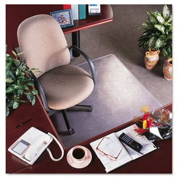 - RollaMat Vinyl Chair Mat for Med Pile Carpet, Beveled Edge, 36 x 48amp;quot;, Clear