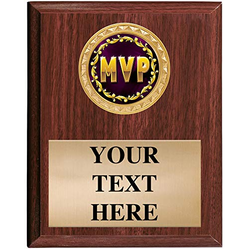(Crown Awards MVP Plaques - 5x7 Customized Most Valuable Player Trophy Plaque Prime)