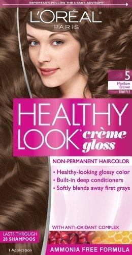 L'Oreal Paris Healthy Look Creme Gloss Color, Medium Brown/Truffle 5 (Pack of 3)